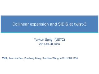 Collinear expansion and SIDIS at twist-3