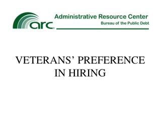 VETERANS' PREFERENCE IN HIRING