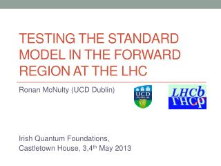 Testing the standard Model in the forward region at the LHC