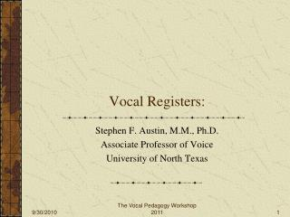 Vocal Registers:
