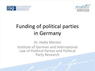 Funding of political parties  in Germany