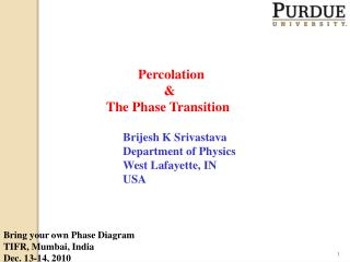 Percolation & The Phase Transition