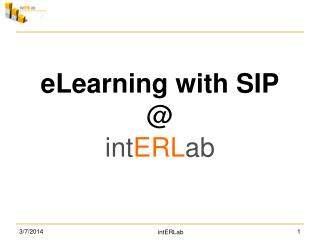 eLearning with SIP @  int ERL ab