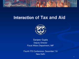 Interaction  of Tax and Aid