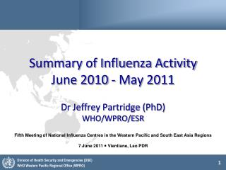 Summary of Influenza Activity June 2010 - May 2011