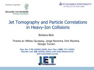 Jet  Tomography and Particle Correlations in Heavy-Ion  Collisions