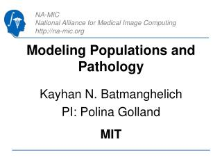 Modeling Populations and Pathology