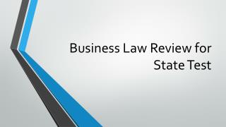 Business Law Review for State Test