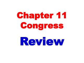 Chapter 11 Congress
