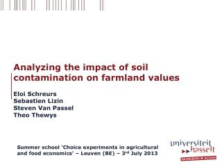 Analyzing the impact of soil contamination on farmland values
