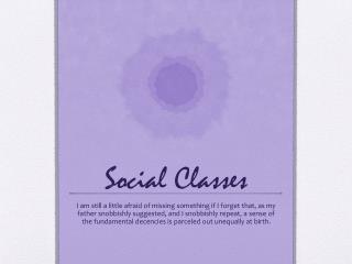 Social Classes