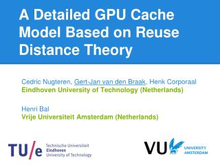 A Detailed GPU Cache Model Based on Reuse Distance Theory