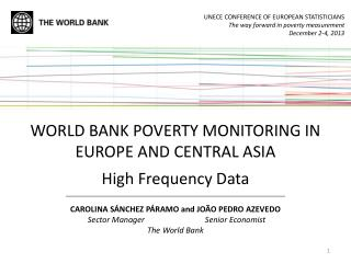 WORLD BANK POVERTY MONITORING IN EUROPE AND CENTRAL ASIA High Frequency Data