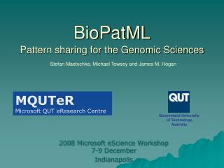 BioPatML Pattern sharing for the Genomic Sciences