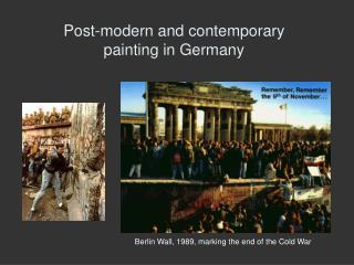 Post-modern and contemporary  painting in Germany
