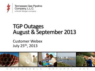 TGP Outages August & September 2013