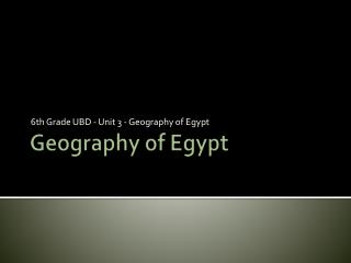 Geography of  Egypt