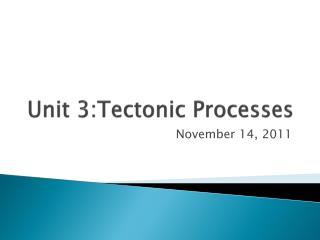 Unit 3:Tectonic Processes