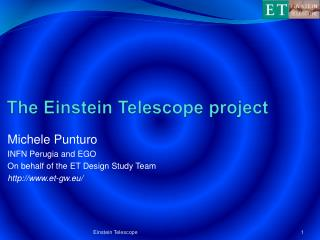 The Einstein  Telescope project