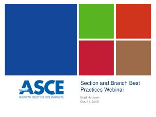 Section and Branch Best Practices Webinar