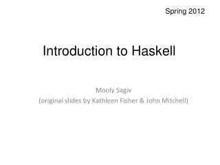 Introduction to Haskell