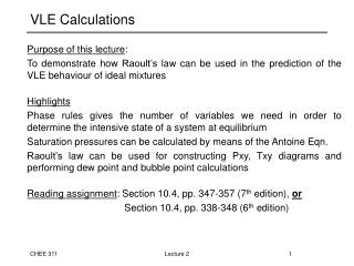 VLE Calculations
