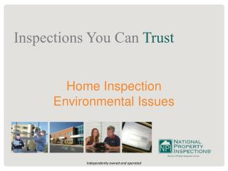 Home Inspection  Environmental Issues
