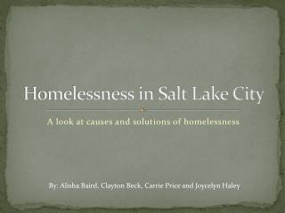 Homelessness in Salt Lake City