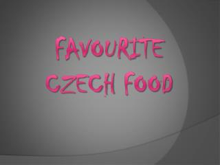 favourite Czech food