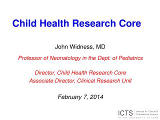 Child Health Research Core
