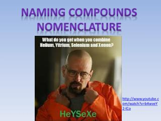 Naming Compounds Nomenclature