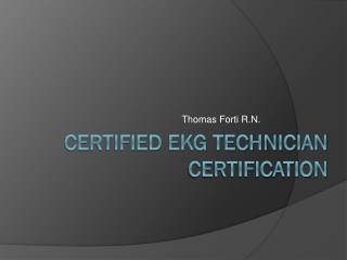 Certified EKG Technician Certification