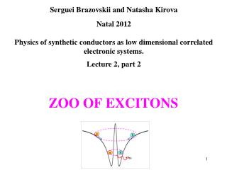 ZOO OF EXCITONS