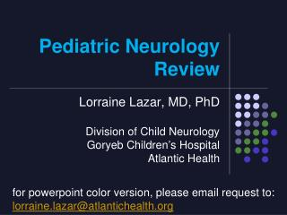 Pediatric Neurology Review