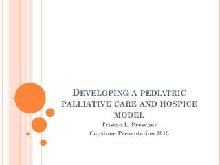 Developing a pediatric palliative care and hospice model