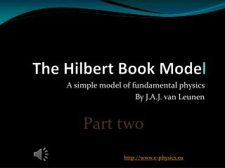 The Hilbert Book Mode l