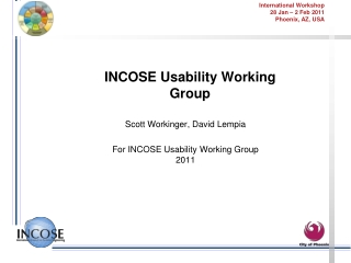 INCOSE Usability Working Group