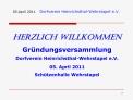 05.April 2011 Dorfverein Heinrichsthal-Wehrstapel e.V.