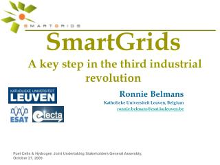 SmartGrids   A key step in the third industrial revolution