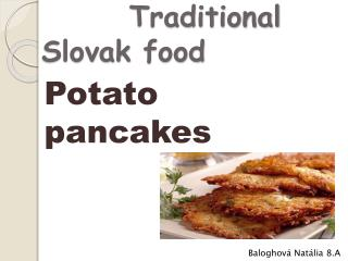 Traditional  Slovak  food