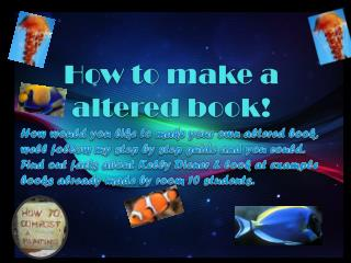How to make a altered book!
