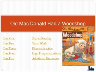 Old Mac D o nald Had a Woodshop