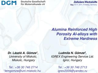 Alumina Reinforced High Porosity Al-alloys with Extreme Hardness