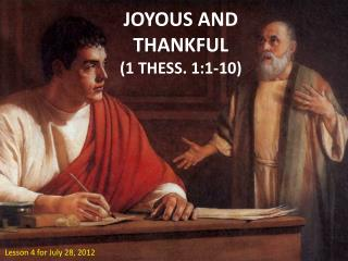 JOYOUS AND THANKFUL (1 THESS . 1:1-10)