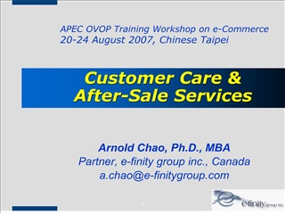 Customer Care   After-Sale Services