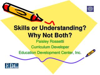 Skills or Understanding? Why Not Both?