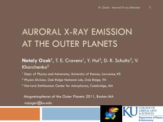 Auroral X-ray Emission at the Outer Planets