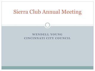 Sierra Club Annual Meeting