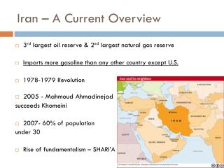 Iran – A Current Overview