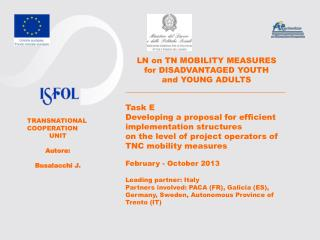 LN on TN MOBILITY MEASURES  for DISADVANTAGED YOUTH  and YOUNG ADULTS